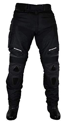 Roleff Racewear Motorradhose Textil/Mesh und Leder, Schwarz, Größe L