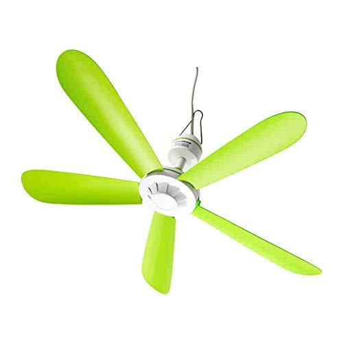 """Fan 20\""""Mini Kleiner Deckenventilator, ABS-Kunststoff grün Deckenventilator hat kein Licht, Mute Deckenventilator mit Einer Fernbedienung Funktion, Indoor Decke Mobile Deckenventilator (2M Netzkabel)"""