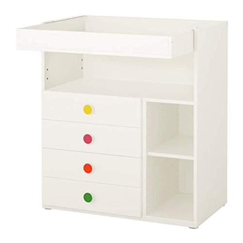 IKEA Stuva/Folja Wickelkommode mit 4 Schubladen, weiß, 792.299.62 Größe 35 3/8 x 31 1/8 x 40 1/8 Zoll