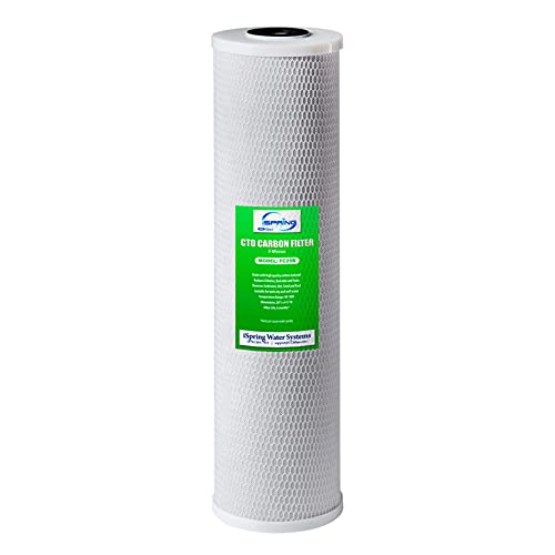 """iSpring FC25B Whole House Water Filter Replacement Cartridge, CTO Carbon Block, 20"""" x 4.5"""""""