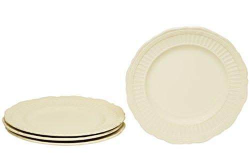 Red Vanilla FE900-402 Tuscan Villa Salad Plates (Set of 4), 8.5', White