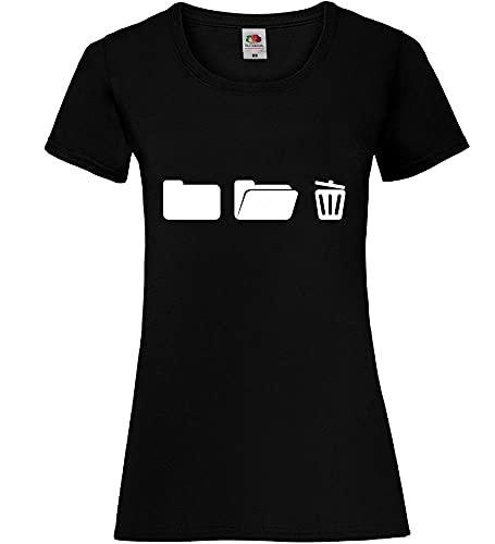 shirt84.de - Archivador con papelera para mujer Negro S