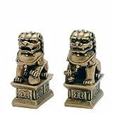 Asia y Tecate Golden 10,16 cm Fu perros trae suerte y protección...