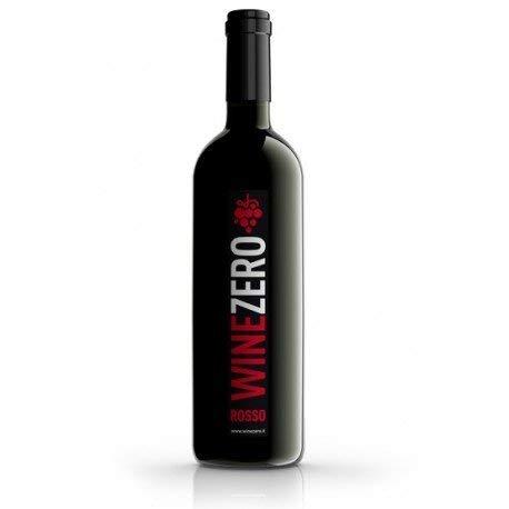 Winezero - Rosso Analcolico a base di vino rosso dealcolato - Confezione 3 bottiglie