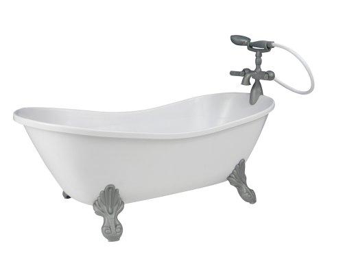 White Doll Bathtub by Sophia's | 18 Inch Doll Tub with Handshower