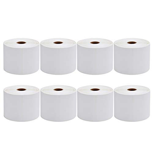 8 Rolls of 450 Labels 4x6 Direct Thermal Shipping Labels for Zebra 2844 ZP-450 ZP-500 ZP-505 (8 Rolls)