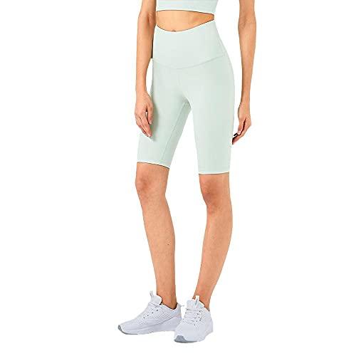 Pantalones cortos deportivos de alta resistencia para mujer, verde claro, M