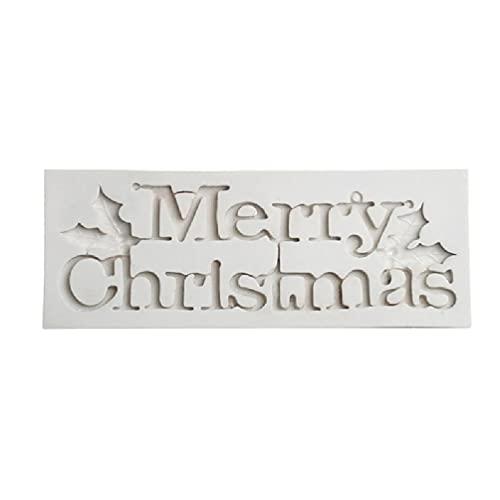 Feliz Navidad Molde de silicona Fondant Cake Pudín de chocolate Sugarcraft Decoración Herramientas para hornear de bricolaje Herramientas y accesorios para hornear para pasteles Barato