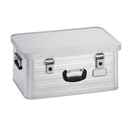 Enders Alubox 47 Liter + Schloss Set, verarbeitet mit Moosgummidichtung, Alukiste verwendbar als Transportbox, Lagerbox - Alukoffer Lagerkisten Metallkiste Metallbox Aluboxen