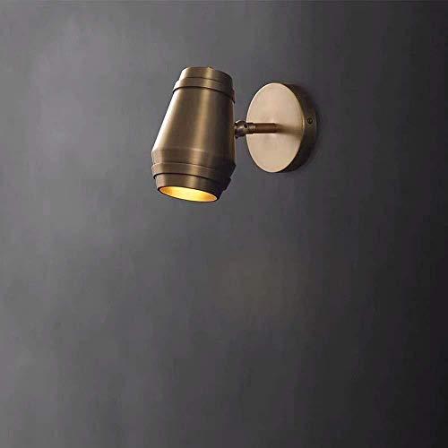 Aplique de pared Brass Wall Light moderno Minimalista Nordic Light Salón Dormitorio Den Creative Personalidad Mesita Lámparas de pared 14,9 x 18,2 x 10 cm interior cubierto Lámparas de pared