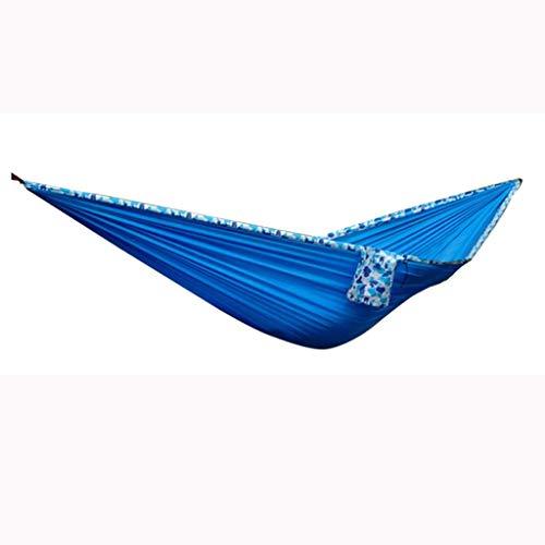 Kyman Resistente al Desgaste Hamaca al Aire Libre 275 * 160 cm Hamaca Grande oscilación Silla de la Hamaca Fuerte Influencia Durable Seguridad (Color: Azul) (Color : Blue)