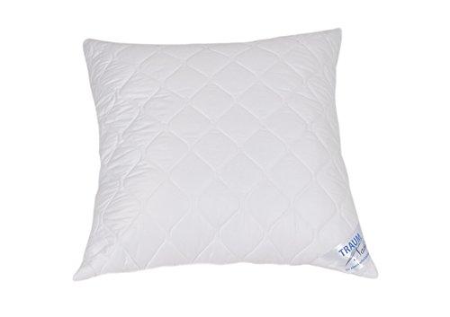 Traumnacht 3-Star Kopfkissen, Einzelpack, weich und bequem aus softer Microfaser, 80 x 80 cm, Waschbar, weiß