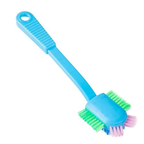 CKY Mehrkopf-Waschbürsten Schuhreinigungsbürste Stiefel Turnschuhe Reiniger Haushaltsgegenstände Weiches Haar Schuhe Bürstenböden Pool-Werkzeug, tiefblau