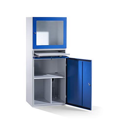 Computerschrank | Schutzart IP42 | HxBxT 1625 x 600 x 350 mm | QUIPO - Workstations PC-Schränke Computermöbel EDV-Schränke Computerschränke