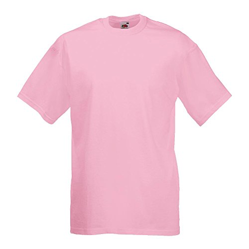 Fruit of the Loom - Classic T-Shirt \'Value Weight\' XXL,Light Pink