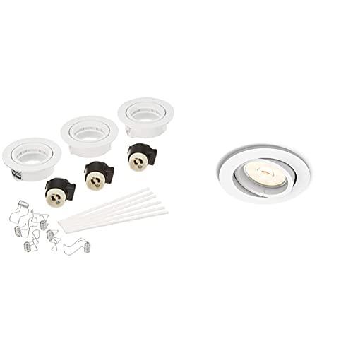 Philips Lighting Enneper Faretti Da Incasso, Dimmerabile, Attacco Gu10, Bianco, 9.00 X 9.00 X 7.00 Cm & Enneper Faretto Da Incasso, Attacco Gu10, Bianco, Lampadina Non Inclusa