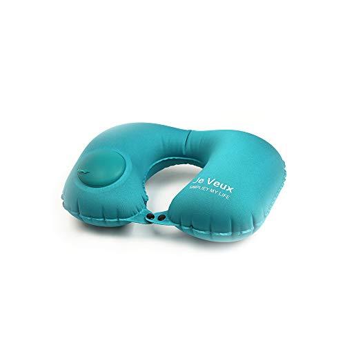 Almohada de viaje Protección cervical Almohada de avión Cojín de viaje para adultos Prensa portátil Automática inflable en forma de U Almohada