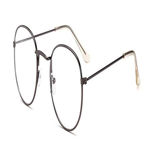 Gafas De Sol Polarizadas Korean Glasses Frame Retro Gold Eyeglass Frame Spectacles Round Computer Glasses Unisex No Degrees Gun