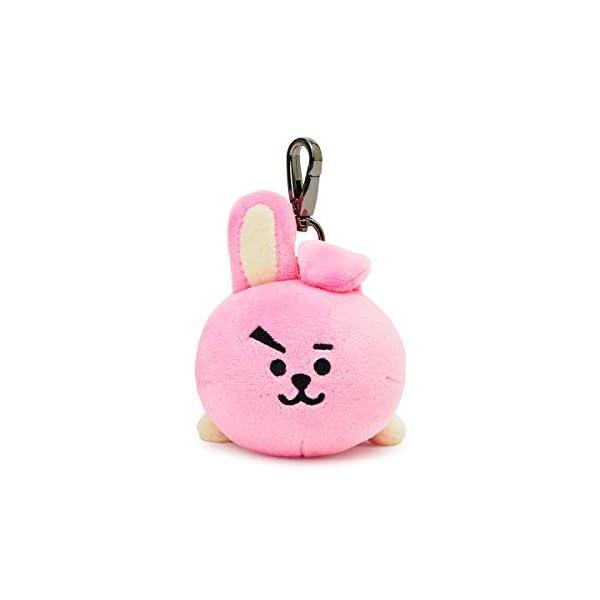 BT21 Lying COOKY Character Soft Plush Stuffed Animal Keychain Key Ring Bag Charm, Pink