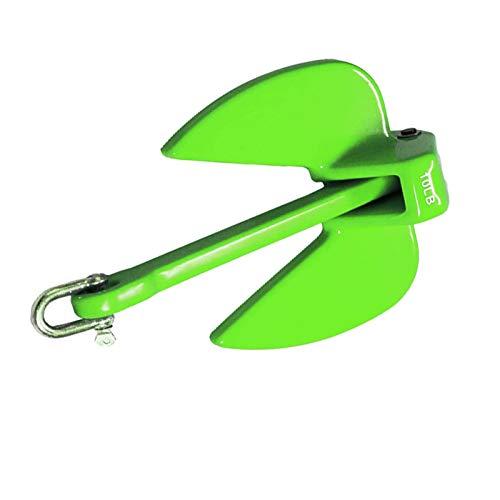 ジェットスキー ゴムボート アンカー 黄緑 イエロー グリーン PVC コート 4.5kg シャックル付き ミニボート PWC 小型ボート マリン用品 係留