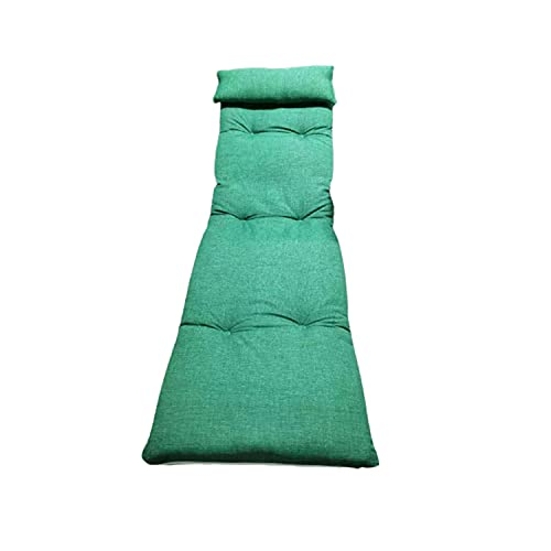 Cojín para tumbonas. Medidas 180 x 55 x 8 cm. Colchoneta para Silla y Tumbona de Playa, Piscina, jardín (Liso Verde)