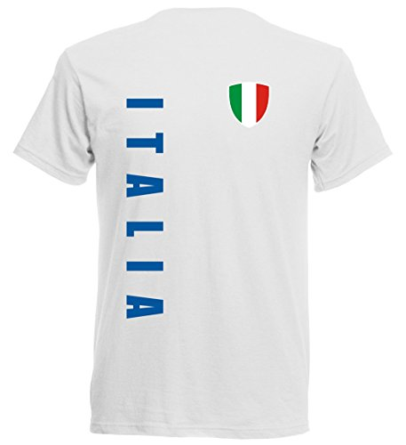 Italien EM 2016 T-Shirt Trikot - S M L XL XXL - weiss 10 (S)