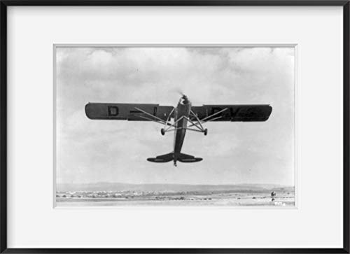 INFINITE PHOTOGRAPHS ca. 1936 Photograph of Fieseler Fi 156'Storch monoplane; Full View, Passing Overhead on Takeoff