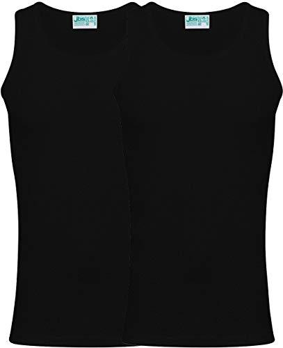 jbs Unterhemd Herren (2er Pack) hochwertige Ideale Passform Ultra Soft Touch und Atmungsaktiv Baumwolle, Ganzjähriges Skandinavisches Design (Ohne Kratzende Seitennähte), Schwarz, 3XL