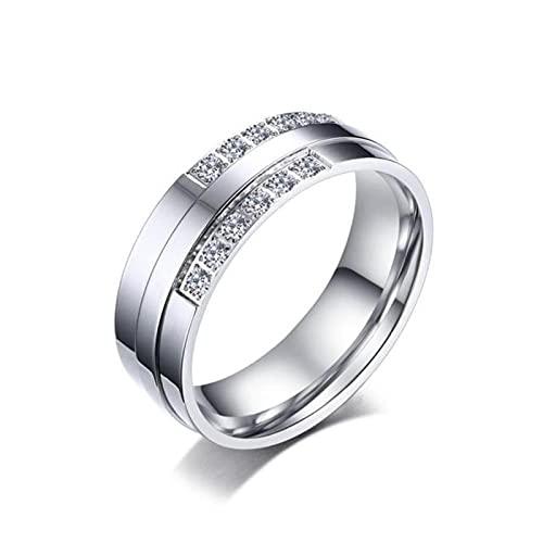 CHENLING Alianza de boda anillos de compromiso para parejas mujeres hombres 316l acero inoxidable amantes R00152