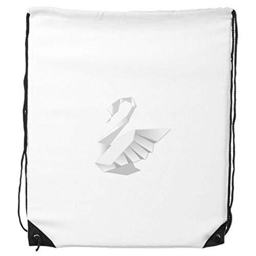 DIYthinker White Swan Modelo Abstracto de la Mariposa del morral del Lazo Compras Deportes Bolsas de Regalo