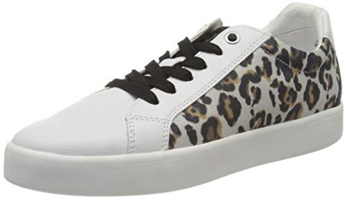 MARCO TOZZI Damen 2-2-23719-24 Sneaker, Weiß (White/Leo 146), 38 EU