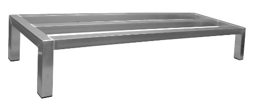 "ACE Equipment 8-Inch High All Welded Aluminum Dunnage Rack with Plastic Feet, 36""L x 14""W x 8""H"