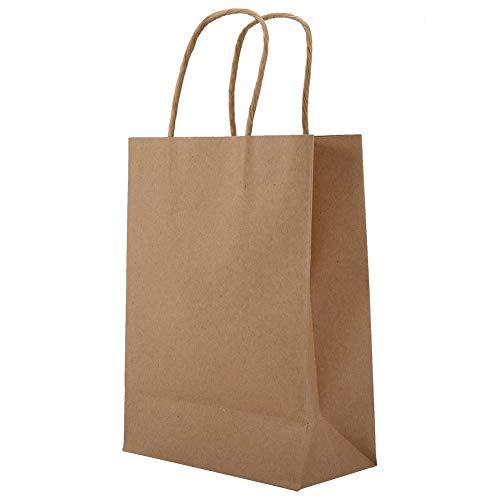 WYANG Sacchetto di Carta Kraft Sacchetto di 25 Pezzi con Manico per Lo Shopping di Caramelle di Nozze in Uscita(1#)
