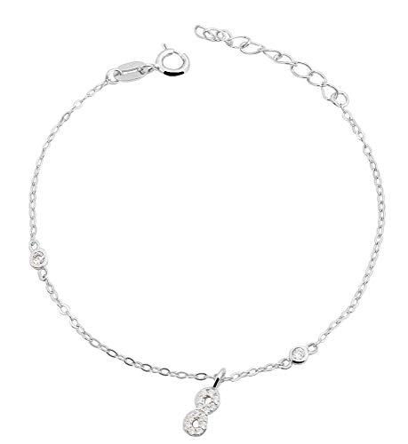 Giulia Luna-armband 925 zilver Infinity oneindigheid 14 + 3 cm GL5240019