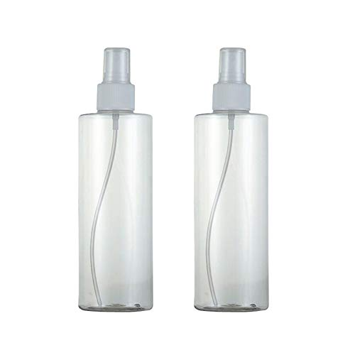 2 STÜCKE 300 ML 10 UNZE Leere Nachfüllbare Transparente Kunststoff Feinnebel Sprühflasche Vernebler Blume Wasser Parfüm Reiner Tau Verpackung Glas Topf Phi