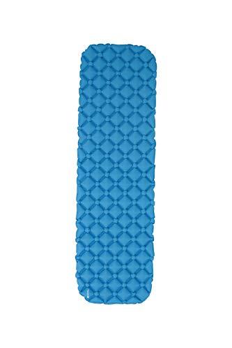 Mountain Warehouse Tapis-Matelas Gonflable Compact de Camping - Léger, Anti-déchirures - pour Les invités supplémentaires à la Maison ou Le Plein air Bleu Taille Unique
