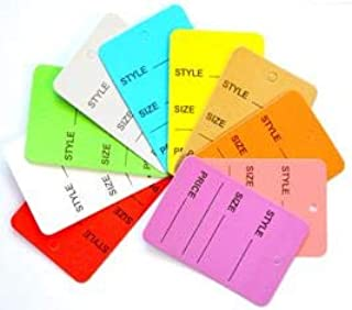 1000 Multi Colors and Sizes Manila Marking 2 Parts Hard Paper Unstrung Coupon Tag Size (Small-1 Part)