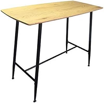 Zons Table Mange Debout RECT en Bois, L120xP60xH95,5 cm