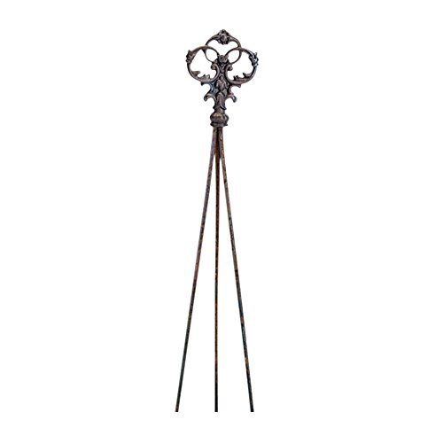 Village Wrought Iron 58 Inch Victorian Nat. Tripod Trellis
