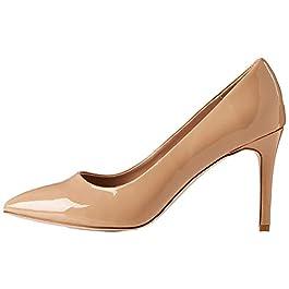 Amazon Brand – find. Wide Fit Point Court Shoe, Women's Closed Toe Heels