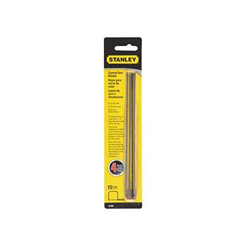 Stanley Hand Tools 15-061 6-1/2 pulgadas 15 TPI hojas de sierra de copia, 4 unidades