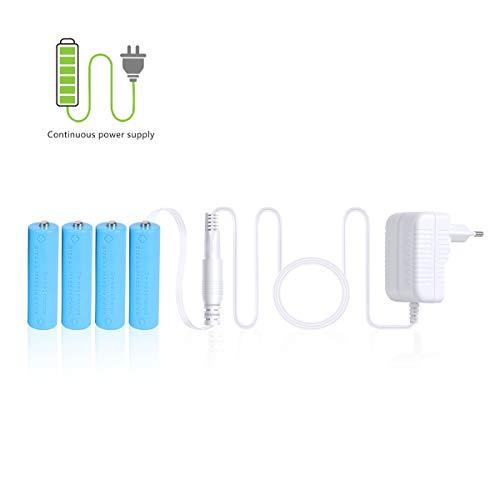 AIEVE Batterieadapter Netzteil Adapter Batterieersatz für 4 STK. AA Batterien kompatibel mit SureFlap Microchip Katzenklappe usw.(Weiß, Nicht für Externe Blitzgerät)
