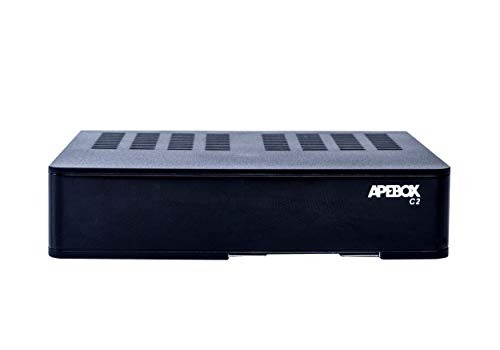 APEBOX C2 - Receptor combo Multistream H.265 FULL HD (1080p, 1x DVB-S2 + 1x DVB-T2/C, 2x USB 2.0, HDMI, LAN, Lector CA, LED Display, IR, SPDIF óptico, Cable AV, RS232,YouTube, DLNA y RCU excepcional)