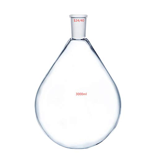Deschem 3000ml,24/40,Glass Recovery Flask,3 Litre,Rotary Evaporator Kjelda Bottle