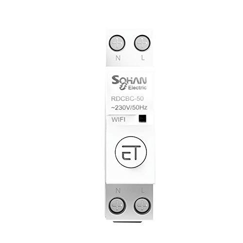 Leeofty Interruptor de sincronización del control de voz de la aplicación del teléfono remoto del disyuntor WiFi inteligente del hogar
