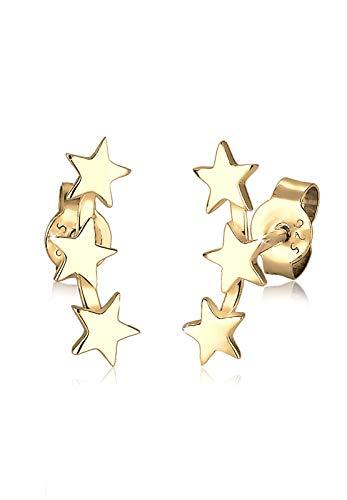 Elli Damen Ohrringe 925 Sterling Silber vergoldet