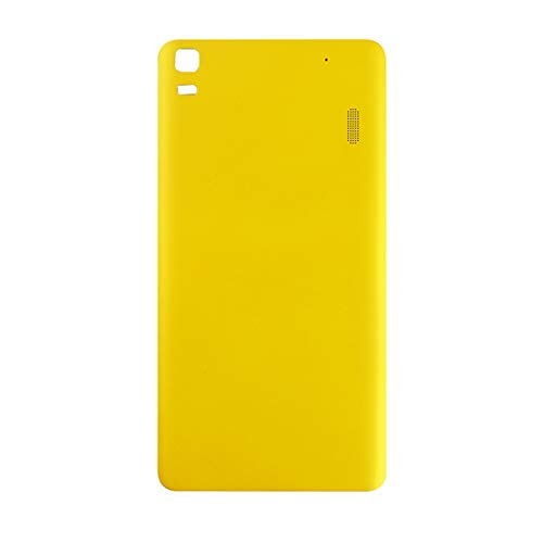 BEIJI BACKBATTERYDOOR/For Lenovo A7000 Battery Back Cover, Replacement for Rear Camera Glass Cover (Color : Yellow)