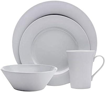 Mikasa Delray Grey 16 Piece Dinnerware Set, Service for 4