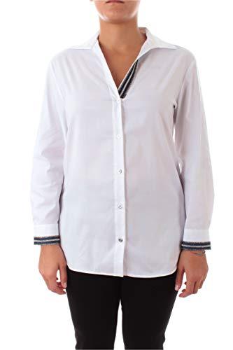 Elena Miro Damen-Hemd, Weiß, 5333T0 09Q7, Weiß 39