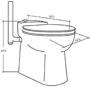 Saniflo 023 Porcelain Upflush Toilet